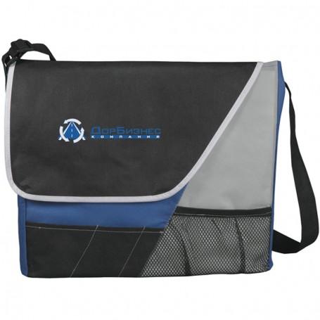 Imprinted Rhythm Messenger Bag