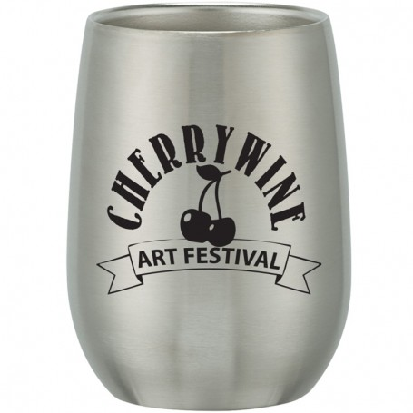 Imprinted Stainless Steel Stemless Wine Glass