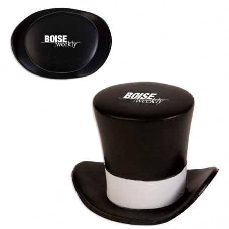 Imprinted Top Hat Stress Reliever
