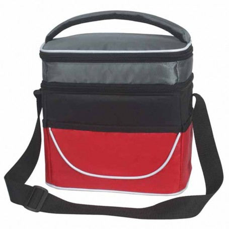 Imprinted Two Compartment Lunch Bag