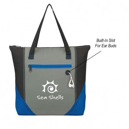 Delta Zippered Tote Bag
