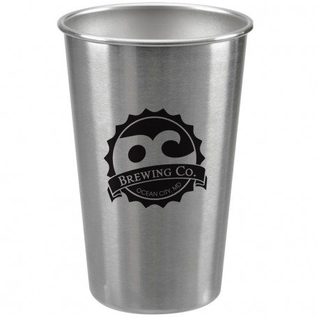 Imprinted Stainless Pint