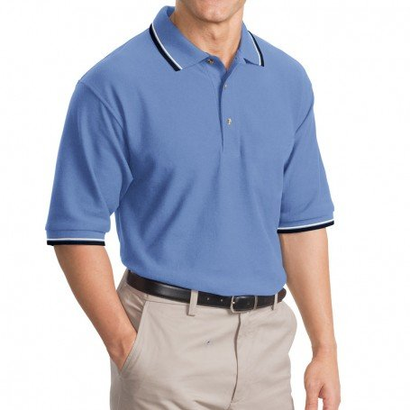 Port Authority Cool Mesh Polo with Tipping Stripe Trim