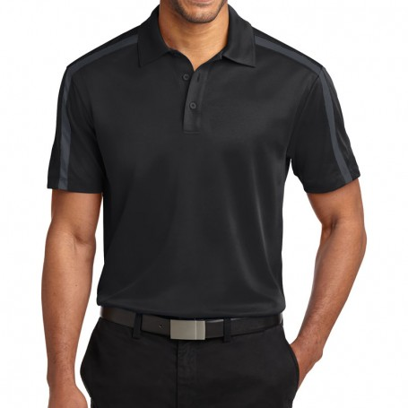 Port Authority Silk Touch Performance Colorblock Stripe Polo (Apparel)