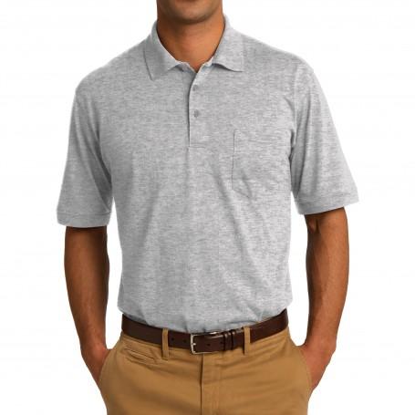 Port & Company 5.5-Ounce Jersey Knit Pocket Polo (Apparel)