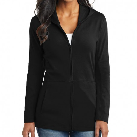 Port Authority Ladies Modern Stretch Cotton Full-Zip Jacket (Apparel)