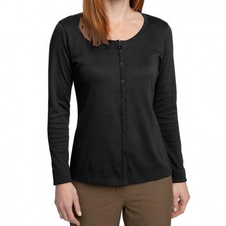 Port Authority Ladies Silk Touch Interlock Cardigan (Apparel)