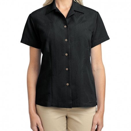 Port Authority Ladies Patterned Easy Care Camp Shirt (Apparel)
