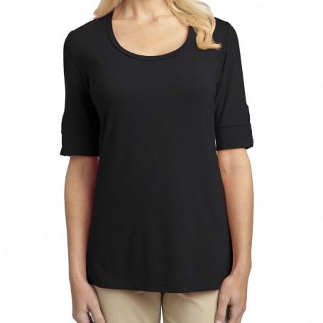 Port Authority Ladies Concept Scoop Neck Shirt (Apparel)