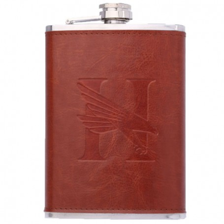 8 oz Leather Flask