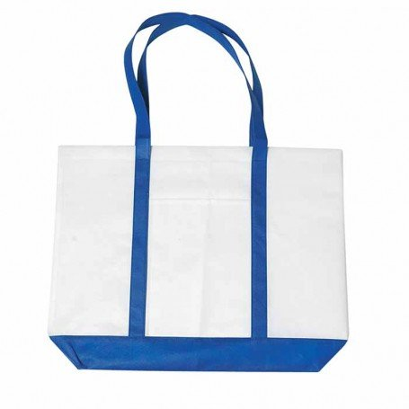 Logo Non-Woven Tote Bag with Trim Colors