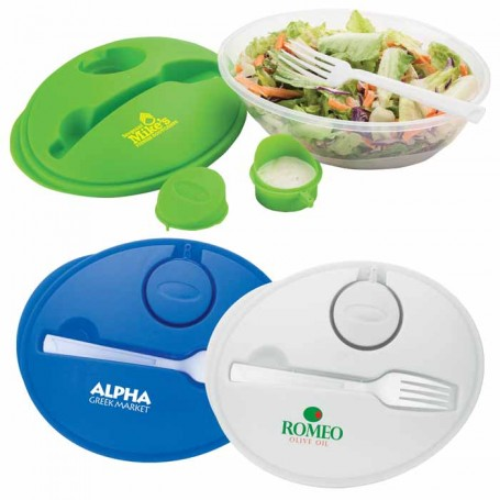 Logo Salad Bowl Set