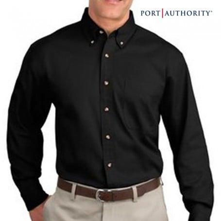 Logo Long Sleeve Twill Dress Shirt