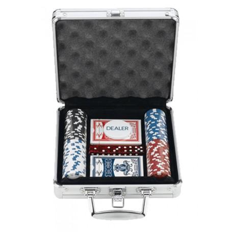 100 Chips Poker Set In Aluminum Case