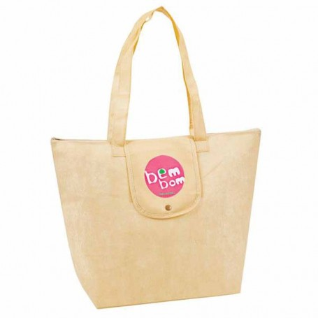 """Monogrammed """"eGREEN"""" Fold-Up Tote"""