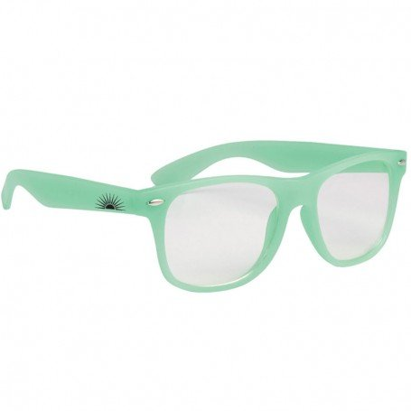 Monogrammed Glow-In-The-Dark Frame Glasses with Clear Lenses