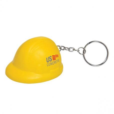 Monogrammed Hard Hat Stress Reliever Key Chain