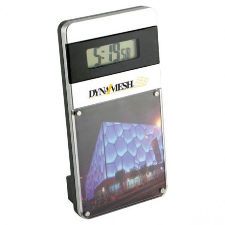 Monogrammed-Magnetic-Acrylic-photo-frame-with-Digital-Clock