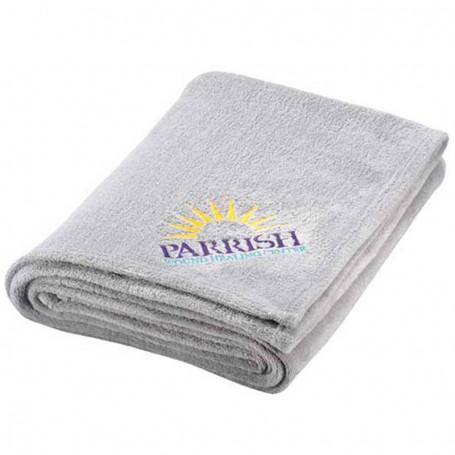 Monogrammed Micro Coral Plush Blanket
