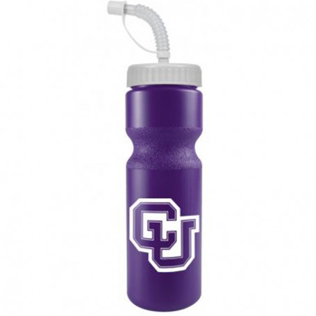 Monogrammed 28 oz. BPA Free Colors Bottle with Straw