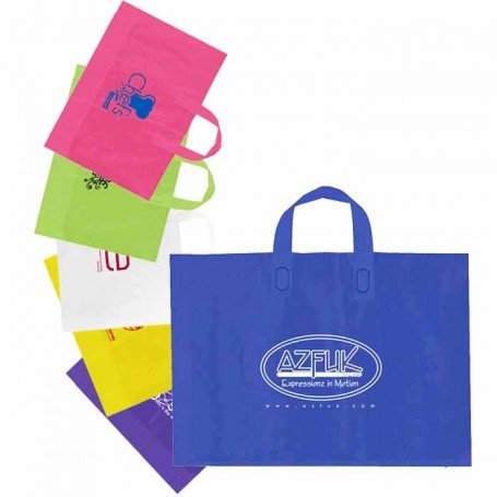 Personalized Frosted Soft Loop Handle Bags
