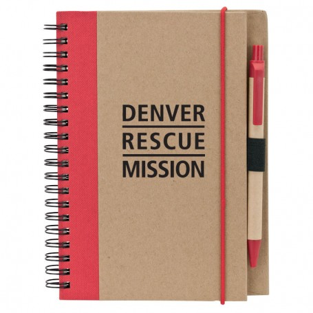 Printable Recycled Notebook with Pen