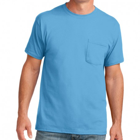 Port & Company 5.4-oz 100% Cotton Pocket T-Shirt (Apparel)