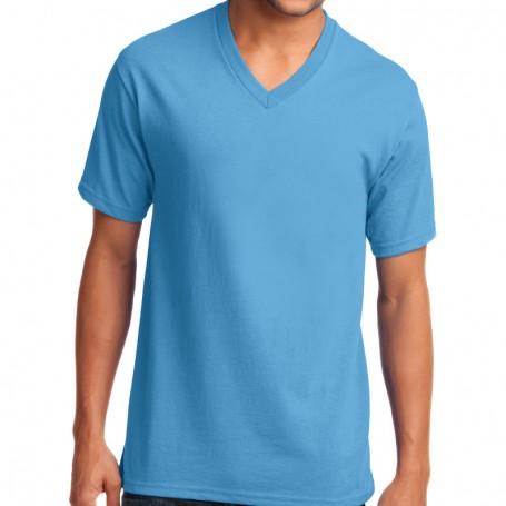 Port & Company 5.4-oz 100% Cotton V-Neck T-Shirt (Apparel)