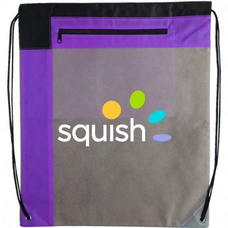 Personalized Gameday Large Non-Woven Drawstring Backpack