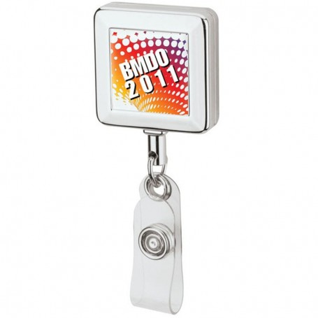 Personalized Square Metal Badge Holder