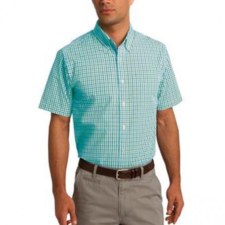 Port Authority Short Sleeve Gingham Easy Care Shirt