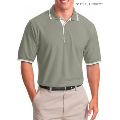 Port Authority Silk Touch Shirt with Stripe