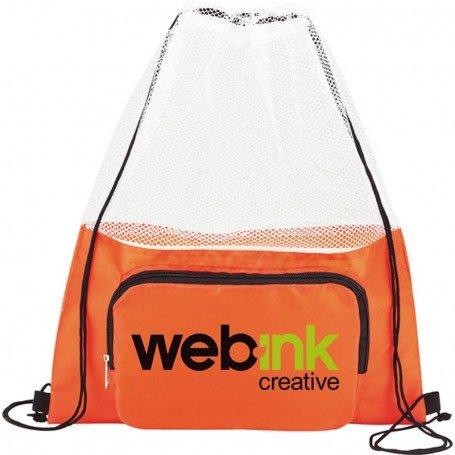 Printable Court Time Drawstring Cinch Backpack