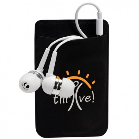 Printable Mobile Device Pocket & Earbuds Set