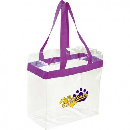 Printed Game Day Clear Stadium Tote