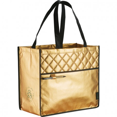 Printed Laminated Non-Woven Quilted Carry Tote