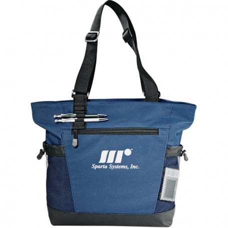Printed Passage Zippered Travel Business Tote