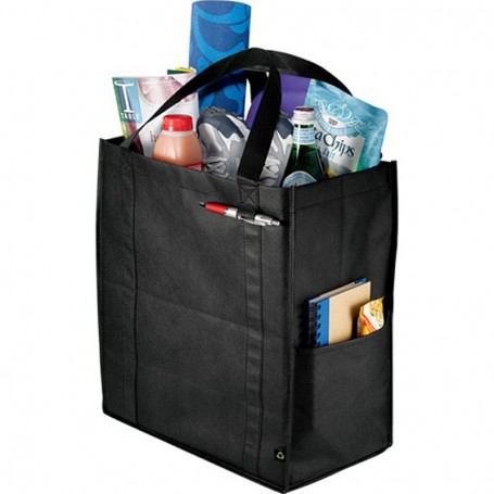 Printed PolyPro Non-Woven Foldable Snap Tote