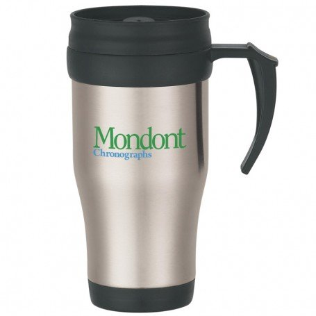 Stainless Travel Mug with Slide Action Lid