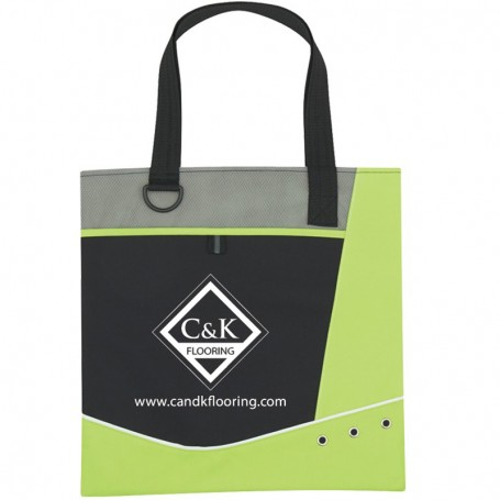 Printed Valley Tote Bag with Grommets