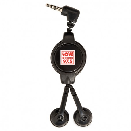 Promotional Easy-Retract Earbuds