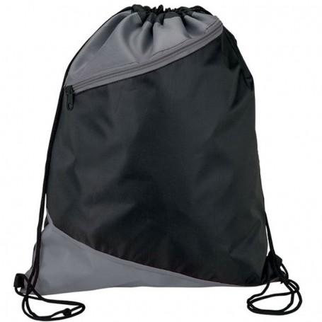 Promotional Zippered Drawstring Sport Bag