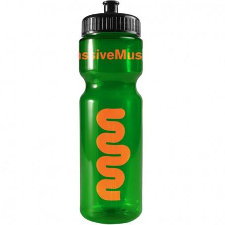 Promotional 28 oz. Transparent Color Bottles