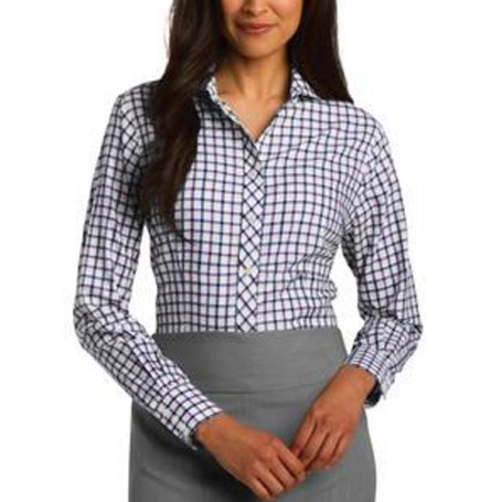Red House Ladies Tricolor Check Non-Iron Shirt
