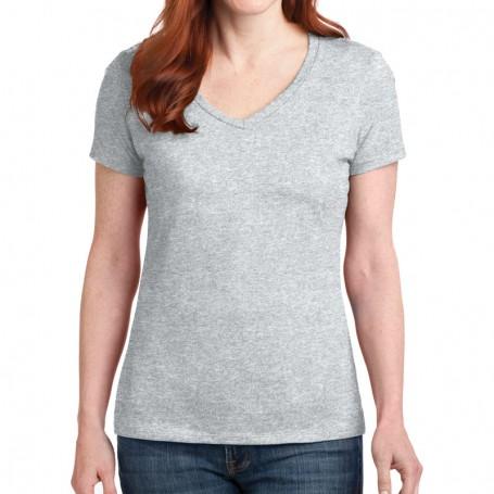 Hanes Ladies Nano-T Cotton V-Neck T-Shirt (Apparel)