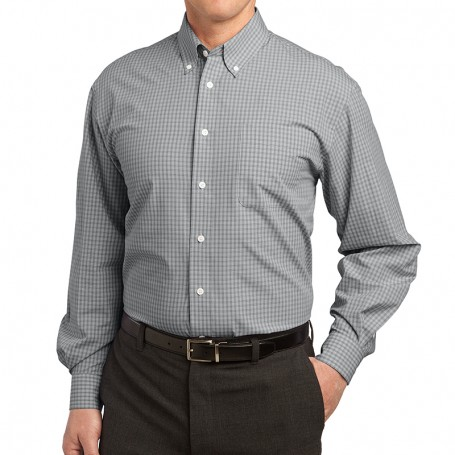 Port Authority Plaid Pattern Easy Care Shirt (Apparel)