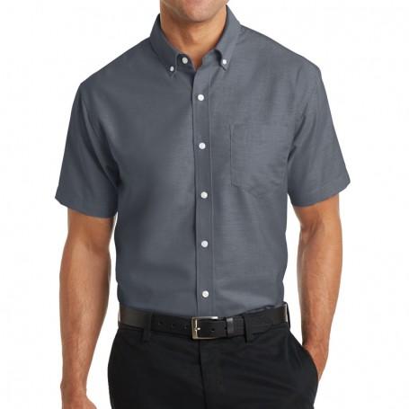 Port Authority Short Sleeve SuperPro Oxford Shirt (Apparel)