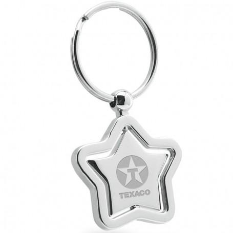 Star Center Piece Swivel Silver Keychain