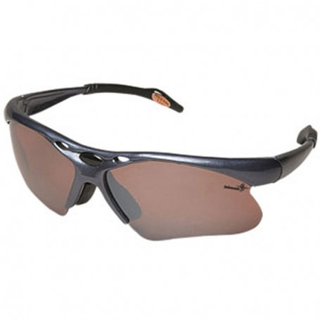 Sunglasses Wrap Style with Amber/Brown Lenses