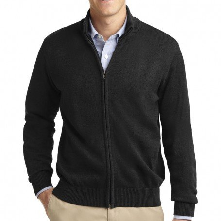 Port Authority Value Full-Zip Mock Neck Sweater (Apparel)